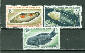 NEW CALEDONIA  FISH #C41-43...SET...MINT...$19.50