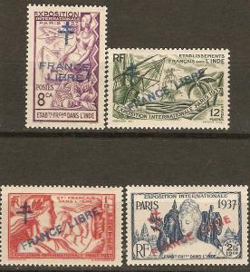 French India 177/81 Cer 171, 2-3, 183 MLH VF 1942 SCV $29.00