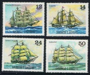 1979 Samoa 403-406 Ships with sails