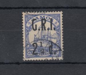 Samoa Germany GRI 1914 2 1/2d On 20pf SG104a Fine Used J5022