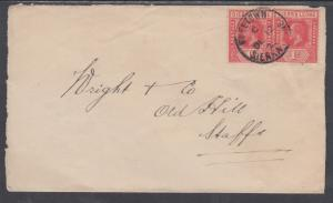 Sierra Leone Sc 104a (2) on 1922 Cover, Freetown to Staffordshire