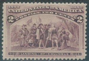 US Scott #231 Mint, FVF, NH