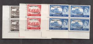 Great Britain Offices In Morocco #609 - #611 Very Fine Never Hinged Corner Block