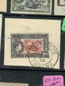 GILBERT & ELLIS (P0501B) KGVI 2D SG 46 PIECE TARAWA  CDS  VFU
