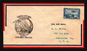 Canada 1938 FFC White Horse to Vancouver - L2998