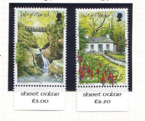 Isle of Man Sc 808-9 1999 Europa stamp set  NH