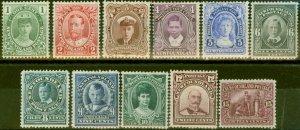 Newfoundland 1911 set of 11 SG117-127 Fine Mtd Mint