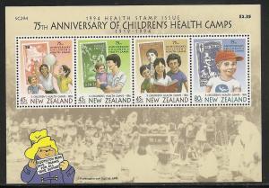 New Zealand B148a 1994 Health m/s MNH