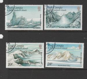 South Georgia 1989 Glaciers VFU/CTO SG 187/90