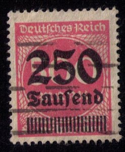 Germany Sc 260 Used 250th m on a 500m Red Org F-VF