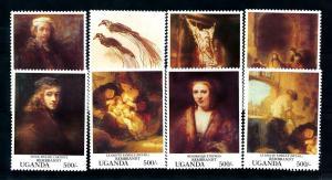 [100174] Uganda 1993 Art Paintings Rembrandt  MNH
