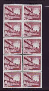 Sweden Sc1040a 1974 Ystad Street stamp booklet pane
