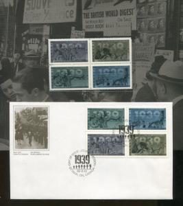 1989 Canada Second World War Souvenir Edition FDC & Postage Stamp Set #1260-1263