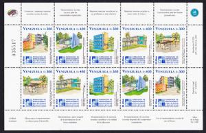 Venezuela Education Building and Endowment Foundation Sheetlet of 10v