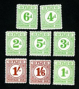 Fiji Stamps # J12-19 VF OG NH Catalog Value $97.00