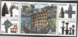 1990    SWEDEN  -  SG.  1495 / 1502  -  VIKINGS  -  MNH