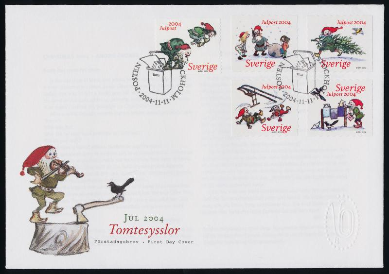 Sweden 2499,2500a-d on FDC - Christmas, Gnomes