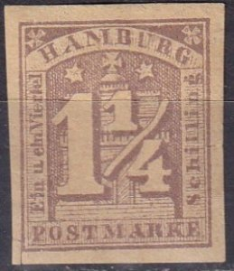 Hamburg #9  F-VF Unused CV $90.00  (Z6826)