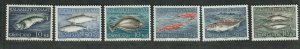 Greenland Sc#136-141 M/NH/VF, Fish, Cv. $44