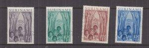 SURINAME, 1954 Child Welfare Fund set of 4, used.