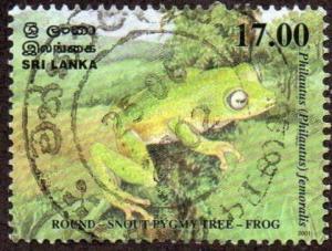 Sri Lanka 1366 - Used - 17r Green Frog (2001) (cv $0.85)