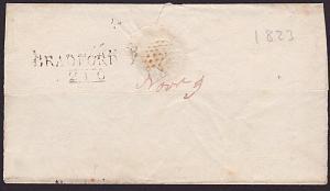 GB YORKSHIRE 1823 wrapper BRADFORD mileage mark...........................7235