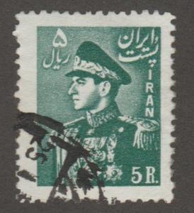 Persia/Iran stamp, Scott# 961, used, green, 5 r, #A0097