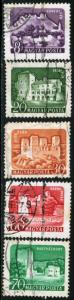 HUNGARY #1282 TO 1286 - USED 5 STAMP SET - 1960 - HUNGARY033