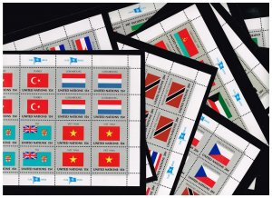 UN STAMP 1980 Flags of Member Nations MNH 12 SHEETS