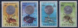 Tuvalu MH 19-22 New Coinage 1976