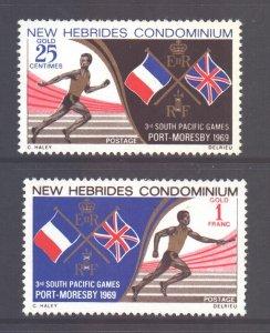 Vanuatu New Hebrides Scott 133/134 - SG136/137, 1969 Pacific Games Set MNH**
