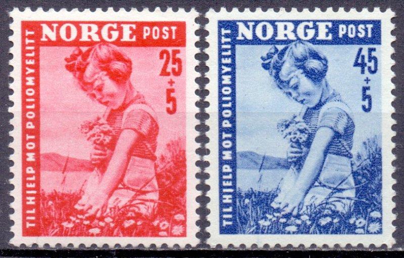 Norway. 1950. 351-52. children. MNH.