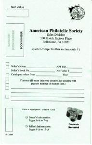 10 NEW AMERICAN PHILATELIC SOCIETY SALES BOOKS FOR SETS MEMBER COST $10.00