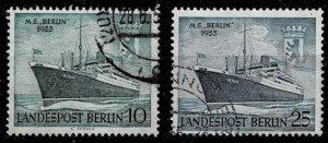 Berlin 1955,Sc.#9N113-114 used M.S. Berlin, formerly Gripsholm