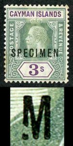 Cayman Is SG50s 3/- Opt SPECIMEN BROKEN M a MAXIMUM of 7 are possible U/M Foxing