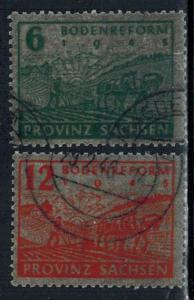 Germany - Russian Zone - Saxony - Scott 13N15-13N16
