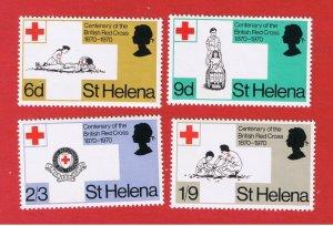 St. Helena  #236-239 MNH OG  Red Cross  Free S/H