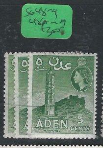 ADEN  (PP0807B)  QEII 5C  SG 48-9,  48A  MOG