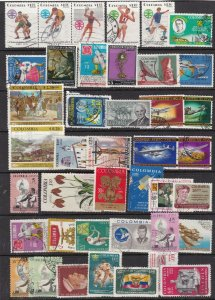 [SOLD] COLOMBIA  ^^^^^^BOB LARGE  x42  used   AIRPOSTS  lot ( TOPICALS)$$ @ha139