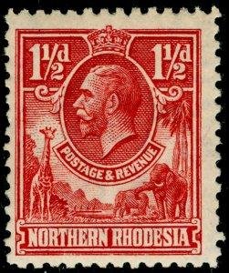 NORTHERN RHODESIA SG3, 1½d carmine-redn, LH MINT.