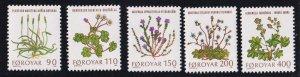 Faroe Islands   #48-52   MNH  1980   flowers