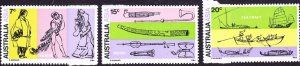 AUSTRALIA 1971 28th International Congress of Orientalists Set SG 483-485 MNH