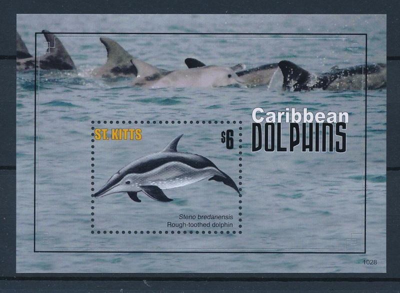 [36599] St. Kitts 2011 Marine life Dolphins MNH Sheet