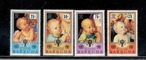 BARBUDA #409-412  1976 INTERNATIONAL YEARD OF THE CHILD     MINT VF NH  O.G