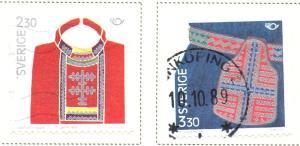 Sweden Sc  1733-4 1989 Nordic Cooperation stamp set used