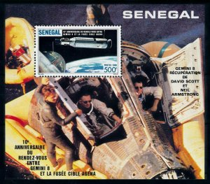 [101958] Senegal 1987 Space travel weltraum Gemini 8 Souvenir Sheet MNH