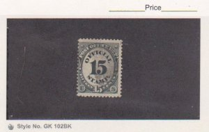 1873 US Stamps Scott # O53 Post Office Department Official 15c Used Cat.$20.00