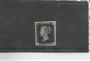 GREAT BRITAIN 1840 1d Black Plate 6