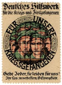 (I.B-CK) Germany (Great War) Cinderella : Prisoner of War Charity Stamp