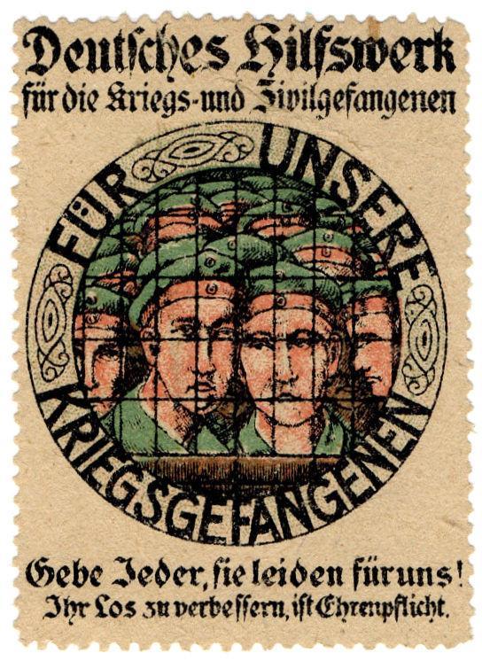 (I.B-CK) Germany (Great War) Cinderella : Prisoner of War Charity Stamp